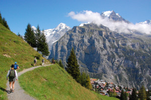 hiking trail above Murren