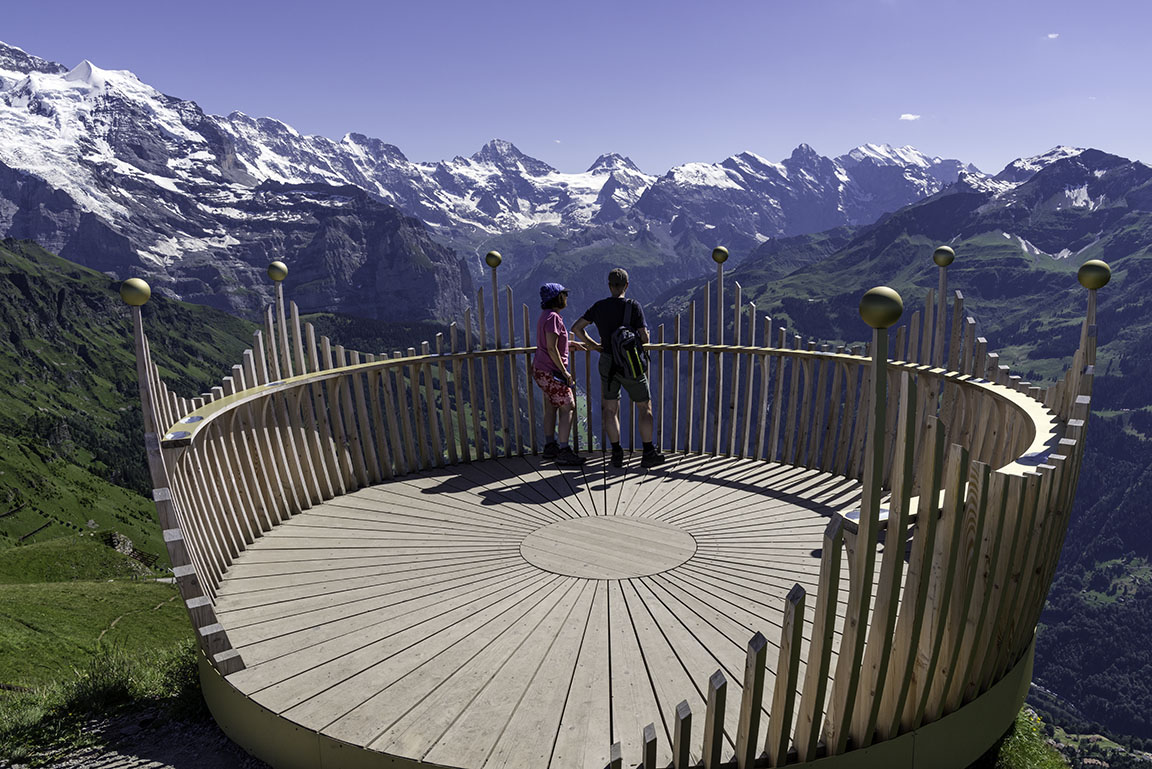 Lookout point at Mannlichen, Bernese Oberland