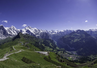 Vista from the Royal Trail above Mannlichen, view of the Eiger,