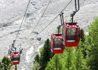 The gondola from Montenvers to the Mer de Glace, Chamonix